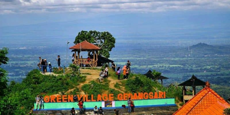 Flying Fox Terpanjang se-Asia Tenggara di Green Village Gedangsari
